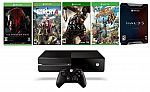 Xbox One 500GB and 5 Games (Factory Reconditioned) $255