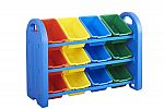 ECR4Kids 3-Tier Toy Storage Organizer with 12 Bins $46.73