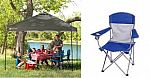 Ozark trail 10x10 Canopy Tent + 4 Folding Mesh Chairs $74
