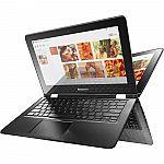 "Lenovo Flex 3-1480 14"" Convertible Notebook, Touchscreen, Core i5-6200U, 128GB SSD, 4GB DDR3 $430"