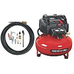 PORTER-CABLE C2002-WK Oil-Free UMC Pancake Compressor with 13-Piece Accessory Kit $107