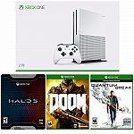 Microsoft xBox One S 2TB Console + Halo 5 Limited + Doom + Quantum Break Bundle $400