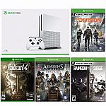 Xbox One S 2TB Console+ Tom Clancy's Division+ AC Syndicate+ Fallout 4+Six Siege $400