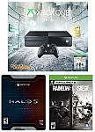 Xbox one Tom Clancy Division 1TB console+ Halo 5 limited Edition+ Six Siege $250