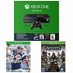 Xbox One 500GB Name Your Game Console Bundle+ Madden 17 + AC Syndicate $260, 1TB Holiday Bundle + 2Games $300