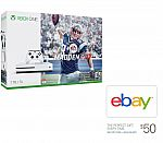 Xbox One S 1TB Console - Madden NFL 17 Bundle + $50 eBay Gift Card $350