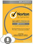 Norton Security Premium (10 Devices) $28