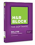 H&R Block 2015 Deluxe  with State for PC or Mac $15