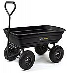 Gorilla Carts GOR200B Poly Garden Dump Cart with Steel Frame and 10-Inch Pneumatic Tires, 600-Pound Capacity $47