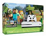 Xbox One S 500GB Minecraft Bundle + $51 off any Xbox One Game $290