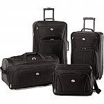 American Tourister Fieldbrook II 4-Piece Luggage Set $50