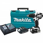 Makita 18-Volt Compact Lithium-Ion 1/2 in. Cordless Driver-Drill Kit $119