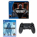 PlayStation 4 Call of Duty 500GB Bundle+Rise of Tomb Raider+PS4 Black Controller $340