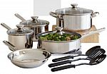 Cooks 12-pc. Stainless Steel Cookware Set $25 AR