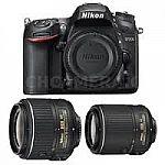 Nikon D7200 DX DSLR Camera + 18-55mm & 55-200mm VRII Lenses (Refurbished) $849 and more model
