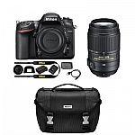 Nikon Refurbished D7200 DX 24.2MP Digital SLR Camera with 55-300mm VR Lens and Case $997
