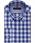 Tommy Hilfiger Men's Classic-Fit Non-Iron Dress Shirt $17