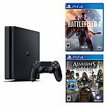 Playstation 4 Slim 500GB Console + Battelfield 1+ Assassin's Creed Syndicate $320