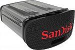 SanDisk Ultra Fit 64GB USB 3.0 Flash Drive $15