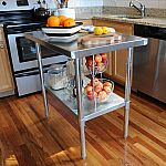 Sportsman 24 in. x 49 in. Stainless Steel Utility Work Table $106
