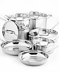 12-Pc Cuisinart Multiclad Tri-Ply SS Cookware Set + 3-Pc Bakeware Set $150 AR