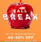 Fall Break Clearance Up to 75% off