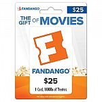 $25 Fandango Gift Card for $19.50
