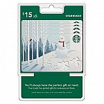 Starbucks $75 Gift Card (5 x $15) $65