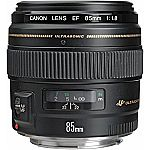 Canon EF 85mm f/1.8 USM with Free Accessory Bundle $299