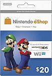 Nintendo eShop Prepaid Card 15% Off @BestBuy