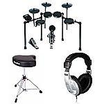 Alesis Nitro Electronic Drum Set Bundle with Drum Throne and Headphones $285