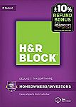H&R Block Tax Software Deluxe 2016 Win + Refund Bonus Offer $20.99
