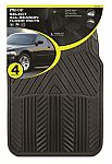 4-Piece Pilot Automotive All Season Rubber Floor Mat Set $10
