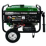 (Back) DuroMax XP4850EH Hybrid Portable Dual Fuel Propane / Gas Camping RV Generator $300