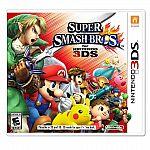 Super Smash Bros, Pokemon Ruby or Sapphire (3DS) $25