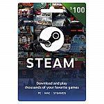 $100 Steam Gift Card $85