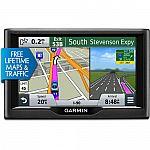 Garmin nuvi 57LMT 5 inch GPS Navigation System with Lifetime Maps & Traffic Updates $115