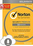 Norton Security Premium - 10 Devices (download code) $28