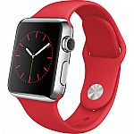Apple Watch Stainless Steel 38mm Product, in red $299