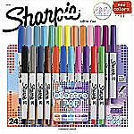 Sharpie 24-Color Permanent Markers, Ultra-Fine Point or Fine Point $8