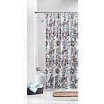 Mainstays Aqua Palm PEVA Shower Curtain $3