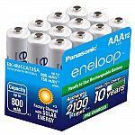 12 Pack Panasonic BK-4MCCA12BA Eneloop AAA 2100 Cycle Ni-MH Pre-Charged Rechargeable Batteries $20