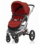 Britax Affinity Complete Stroller, Silver - Red Pepper $190