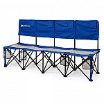 Ozark Trail Convertible Bench, 225 lb Capacity, Blue $20, Cold Weather Chair with Steel Frame $10