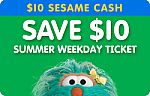Sesame Place Weekday ticket + $10 Sesame Cash $55, Busch Gardens Tampa or SeaWorld Orlando Single-Visit Ticket $79 and more