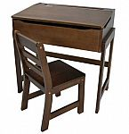 Casual Home Child's Slanted Top Desk and Chair - Walnut $70