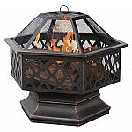 UniFlame 6-Sided Oil Rubbed Bronze Outdoor Fire Pit $40