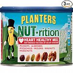 Planters NUT-rition Heart Healthy Mix, 9.75-oz. Cans (Count of 3) $8.97