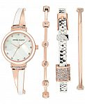Anne Klein Women's Bracelets & Watch Set $62