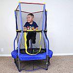 "Skywalker Trampolines Bounce-N-Learn 40"" Trampoline with Enclosure $29"